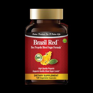 Brazil Red - Bee Propolis Blood Sugar Formula: Buy 1 Bottle, Get 1 Bottle Bee Propolis Capsules FREE!