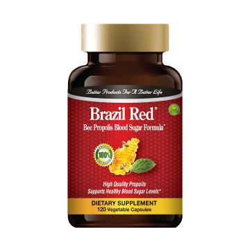 Brazil Red - Bee Propolis Blood Sugar Formula: Buy 1 Bottle, Get 1 Bottle Bee Propolis Capsules FREE!
