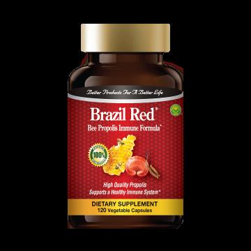 """""""巴西红""""特级免疫蜂胶胶囊:买1瓶,免费送1瓶""""巴西红""""蜂胶胶囊"""